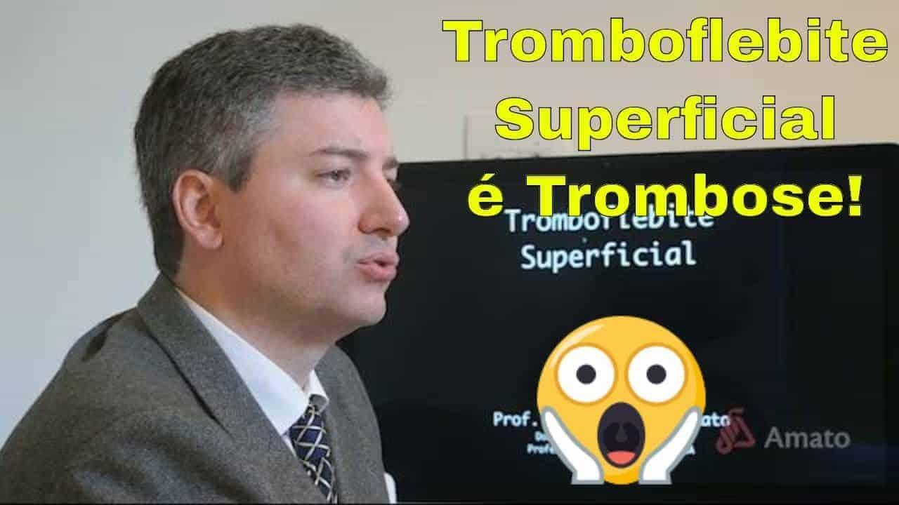 Tromboflebite Superficial: a trombose das veias superficiais<span class=